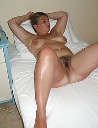 pink open hairy pussy wife